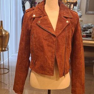 Genuine Leather Suede Jacket